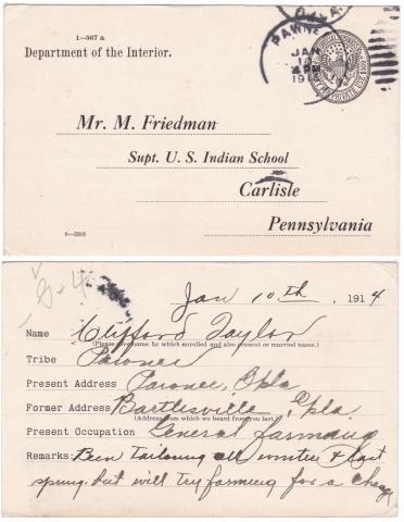 Clifford Taylor Student File