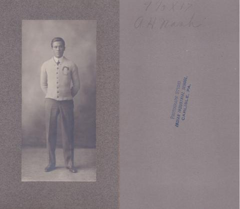 Albert H. Nash Student File