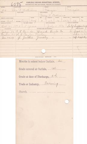George P. Williams Student File