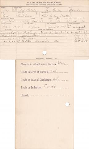Randal Delchey (Cork Screw) Student Information Card