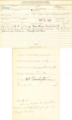 Isaac Gould Student Information Card