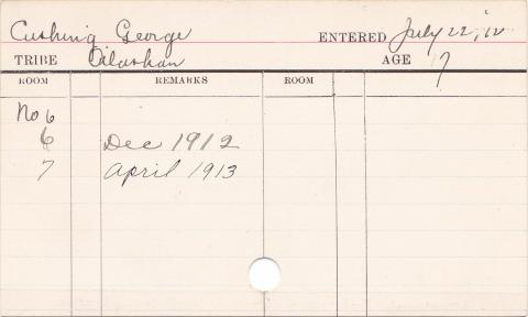 George Cushing Progress Card