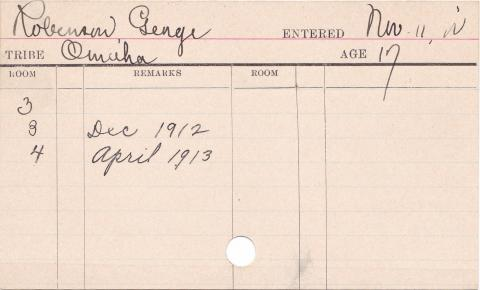 George Robinson Progress Card