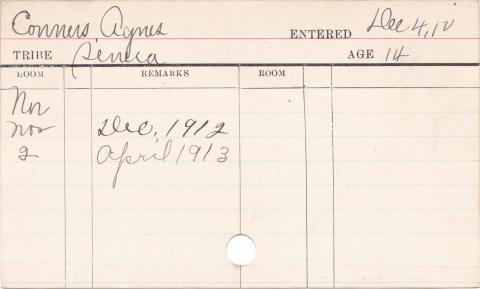 Agnes Conners Progress Card
