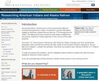 National Archives American Indian Records Index