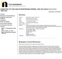 Carlos Montezuma Papers at the Newberry Library