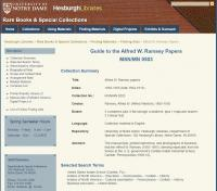 Alfred W. Ramsey Papers at University of Notre Dame Hesburgh Libraries