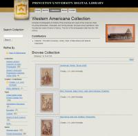 Western Americana Collection at Princeton University Library Department of Rare Books and Special Collections