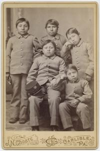 Five young male Sioux students [version 3], c.1880