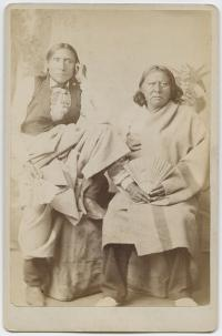 White Man and Stumbling Bear, visiting chiefs [version 2], c.1880