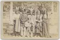 Five chiefs and two interpreters [version 2], c.1880