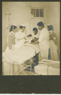 Training of student nurses in school hospital, c.1910
