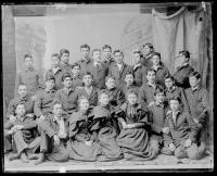 Group of male and female student printers [version 1], c.1894