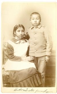 Female and male Laguna students, c.1885