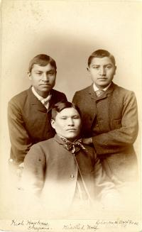Kish Hawkins, Kise (Red Wolf), and Clarence Wolf Face [version 2], c.1884