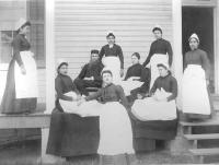 Student nurses and medical staff [version 2], c.1885