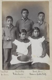 Five Nez Perce students [version 2], c.1883
