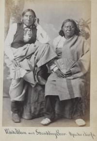 White Man and Stumbling Bear, c.1880