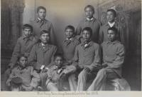 Ten Sioux male students [version 2], c.1883