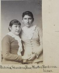 Victoria Standing Bear and Martha Bordeaux, c.1884