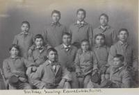 Twelve Sioux male students [version 2], c.1883