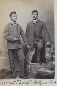 Clarence White Thunder and Fred Big Horse [version 2], c.1884