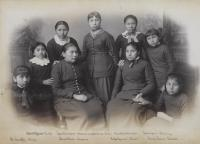 Nine female students [version 2], c.1885