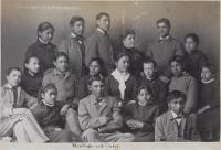 Teacher Mary Hyde and Indian School choir [version 2], 1884