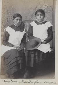 Leila Jones and Maud Chief Killer [version 2], c.1882