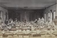 Dining Hall with female student workers [version 2], c.1883