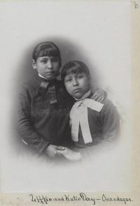 Lizzie Day and Katie Day [version 2], c.1883