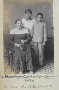 Mary K. Marmon, Lena Carr, and Harry Marmon [version 3], c.1884