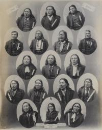 Noted Indians (Seventeen Sioux chiefs), 1891