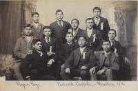 Twelve male Piegan students [version 2], c.1891