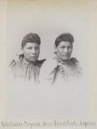 Kate Stocker and Jessie Spread Hands, c.1890