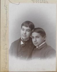 Fred Tibbetts and Willard Gansworth, c.1897