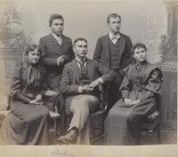 Edward Marsden and four other Alaskan students [version 2], 1893