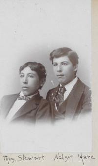 Thomas Stewart and Nelson Hare, c.1894