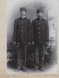 Frank White Eyes and Uriah Goodcane, c.1897