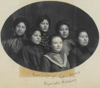 Group of six female students, c.1902