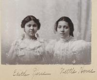 Edith Pierce and Nettie Horne, c.1897