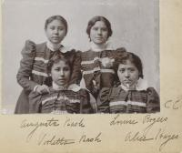 Augusta Nash, Louise Rogers, Violetta Nash, and Alice Hayes, c.1898
