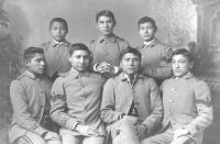 Seven male students, c.1886