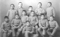 Twelve young male students, c.1890