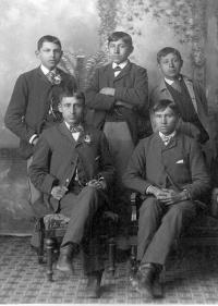 Louis Big Horse, Elmer, Joel Chetopah, Embry Gibson, and Fred Lookout [version 2], c.1884