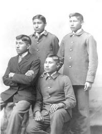 Four male students, c.1892