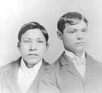 Ezra Ricker and Quincy Adams, c.1890