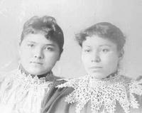Lottie Horne and Nancy O. Cornelius, c.1896