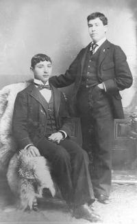 Paul Hayne and Clark Gregg, c.1893