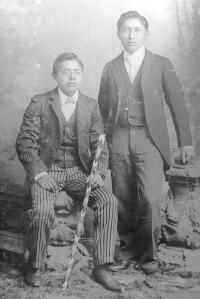 Charles Dickens and Mark Hopkins, c.1895